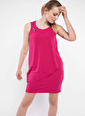 DeFacto Aksesuar Detaylı Kolsuz Elbise Pembe